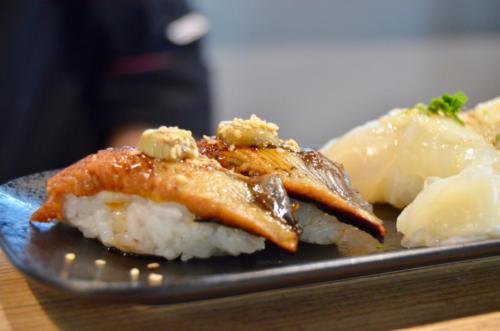 Nigiri de anguila y foie